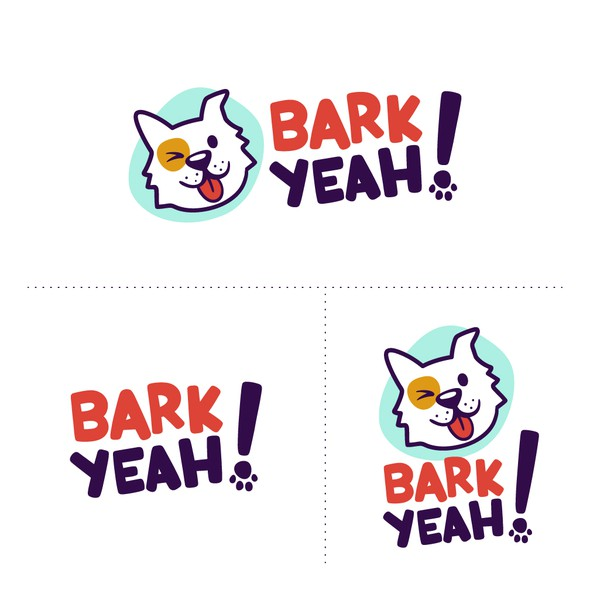 Pet logo with the title 'Logo for Bark Yeah!'