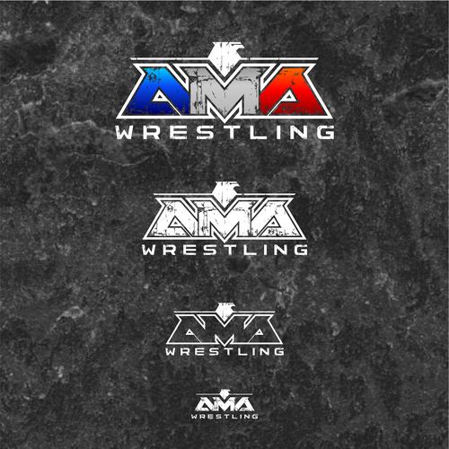 Wrestling design with the title 'Professional Wrestling Logo for AMA Wresling'