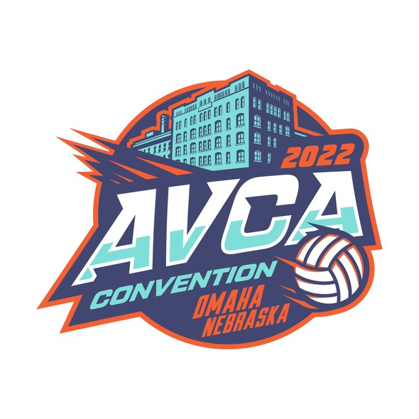 Exposition logo with the title 'Winner of 2022 AVCA Convention Contest'