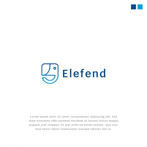 Integrity logo with the title 'Logo design for Elefend'