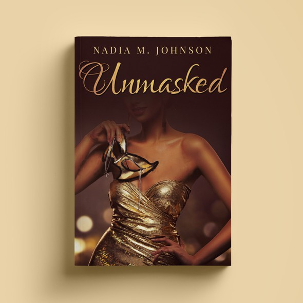 Glamorous design with the title 'Elegant cover for a story set in Hollywood'