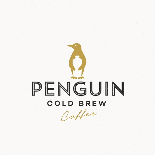 Brewery design with the title 'PENGUIN COLD BREW'