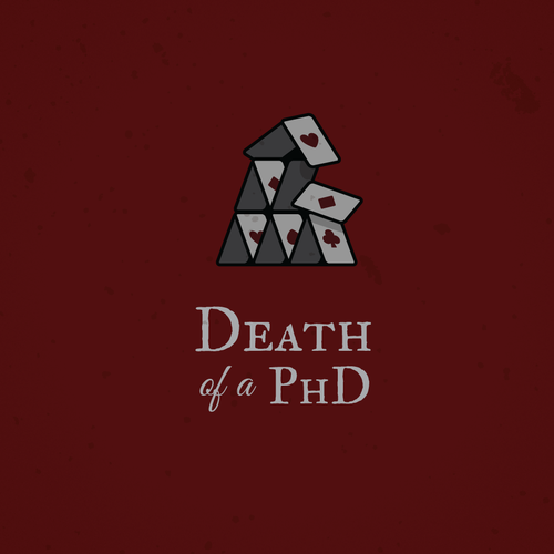 Death logo with the title 'Logo for a dark and moody documentary'