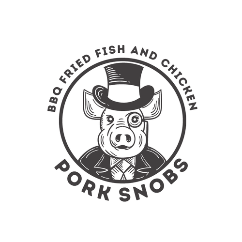 Woodcut logo with the title 'Fancy Pig'