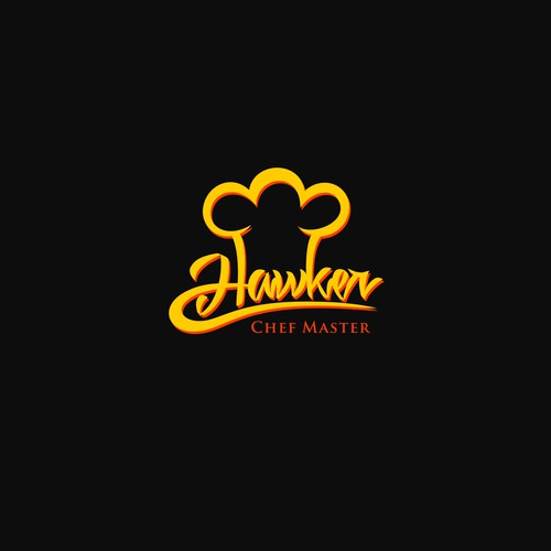 Classic logo with the title 'Creating logo for Hawker '