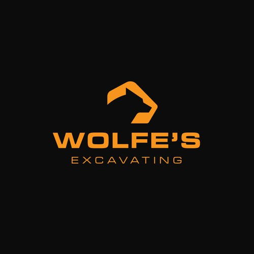 Earth mover logo with the title 'Logo Concept for Wolfe's Excavating || Available'
