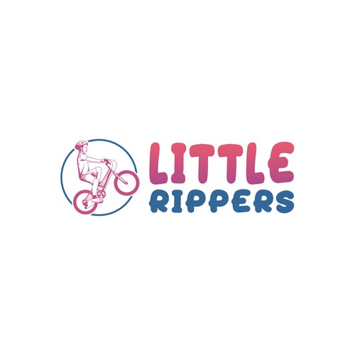 Horse riding logo with the title 'Little Rippers'