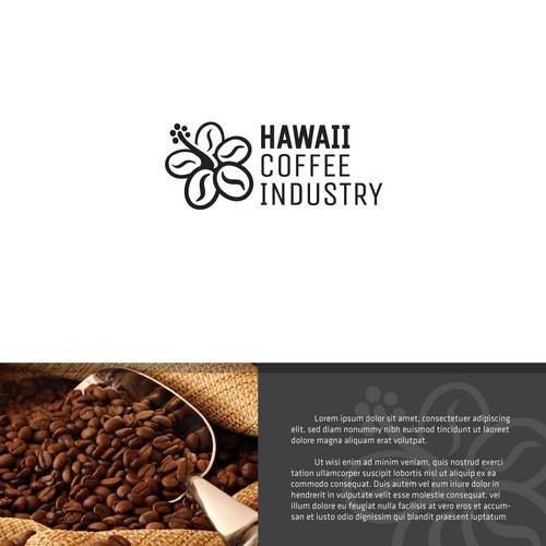 Hawaii logo with the title 'Hawaii Coffee Industry'