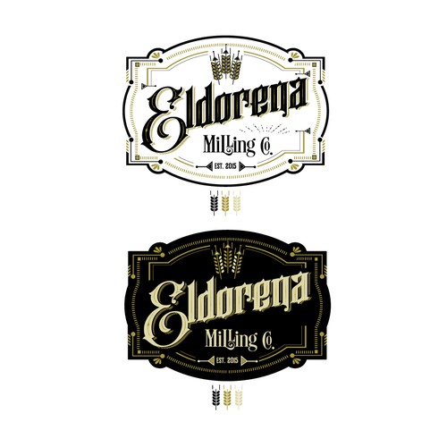 Ornamental logo with the title 'Eldorena Milling Co.'
