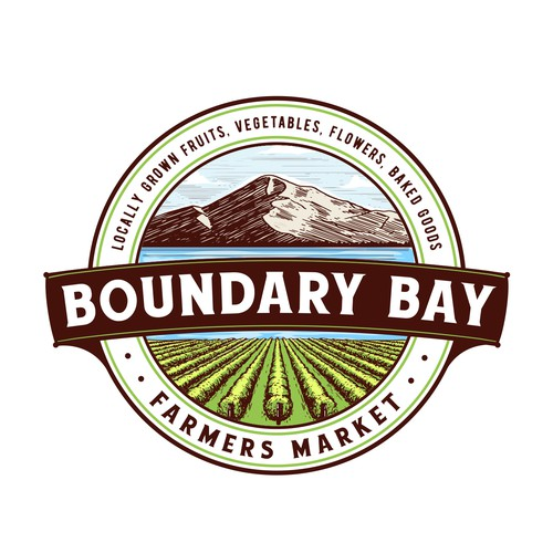 Farm logo with the title 'Boundary Bay Farmers Market'