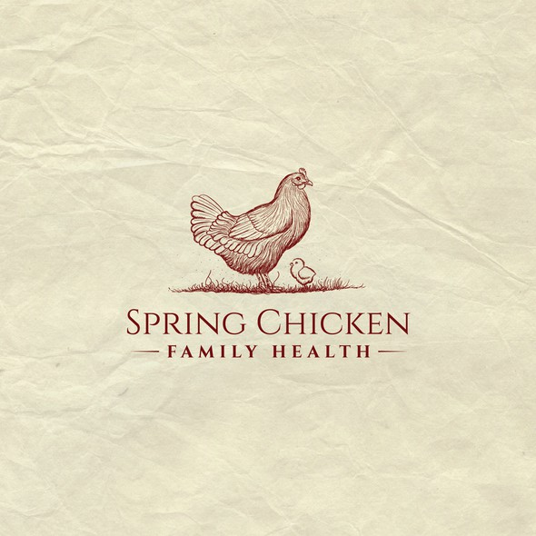 Chick design with the title 'Charming vintage logo for a naturopathic medical clinic on a permaculture  '