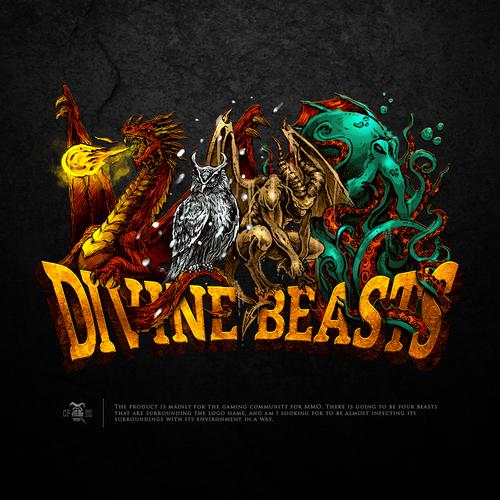 Kraken design with the title 'Divine Beasts'