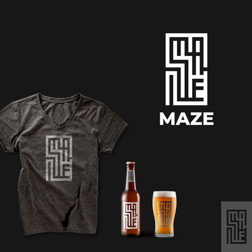 Labyrinth design with the title 'MAZE'