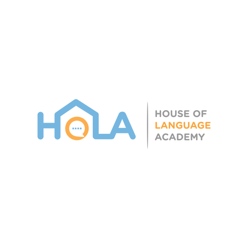 Language logo with the title 'HOLA logo'