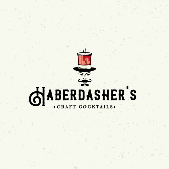 Cocktail logo with the title 'Haberdasher's'
