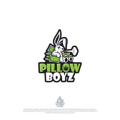 Rabbit logo with the title 'Pillow Boyz '