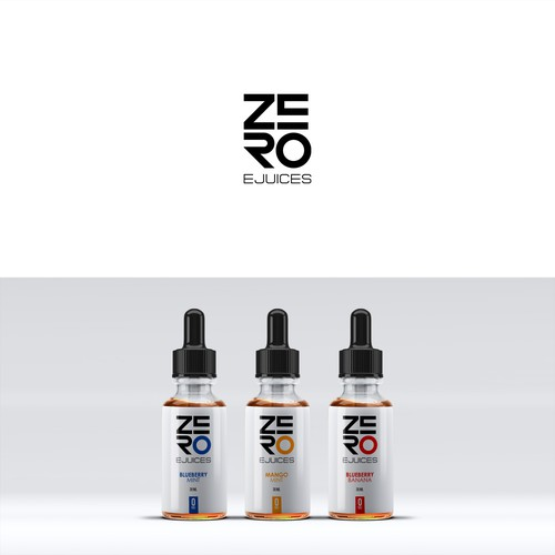 Liquid label with the title 'Zero Ejuices Logo'