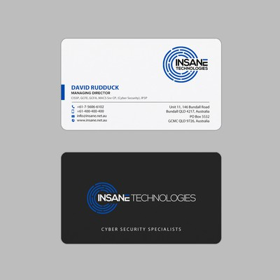 Business Card design for Technology business
