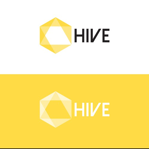 Beehive design with the title 'Logo Concept fot a new social network'