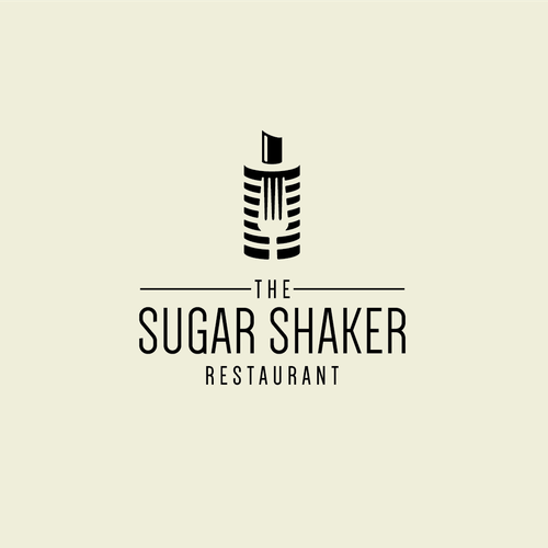 Fork logo with the title 'Restaurant Sugar Shaker'