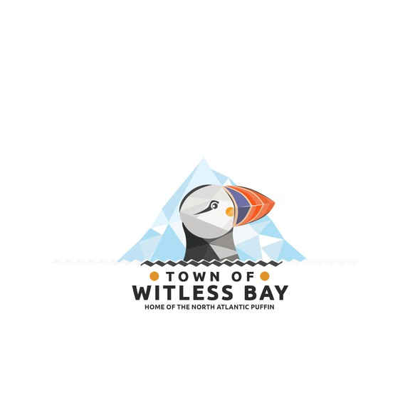Iceberg logo with the title 'logo design for the Town of Witless Bay'