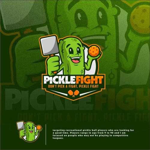 Pickle design with the title 'Pickleball Brand'