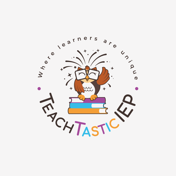 Owl logo with the title 'Teachers webpage Logo'
