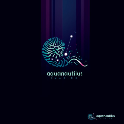 Underwater logo with the title 'Aquanautilus imaging'