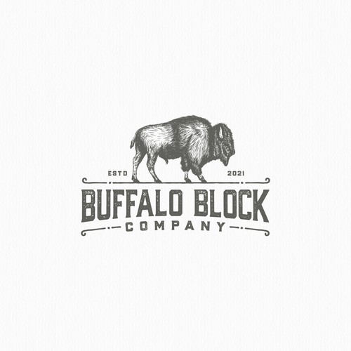 Logo with the title 'Rustic feel logo for butcher board maker'