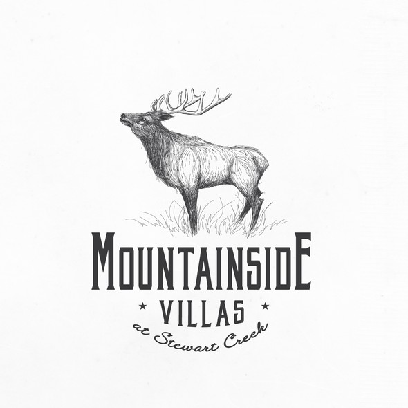 Complex logo with the title 'Beautiful Elk design for Real Estate Company'
