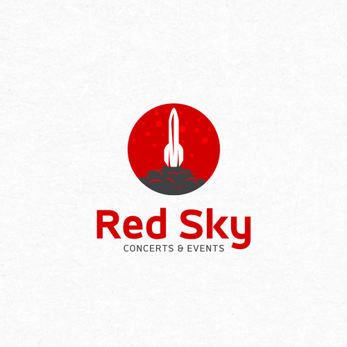 Spaceship logo with the title 'RedSky Logo Proposal'