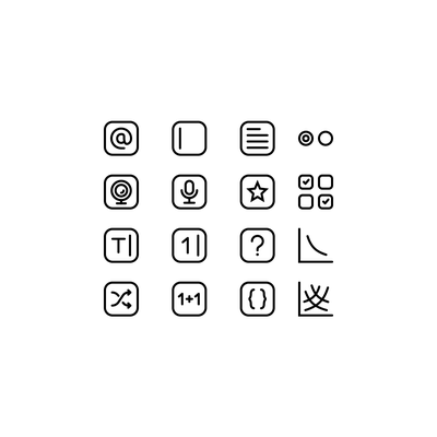 Survey icons