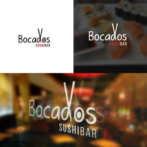 Sushi bar design with the title 'Logo para restaurant de Sushi'
