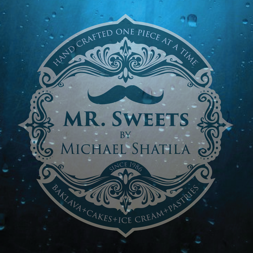 Sculpture logo with the title 'MR. Sweets by Michael Shatila'