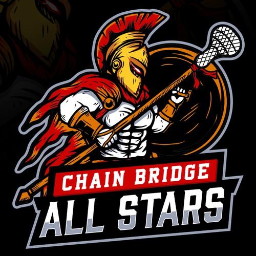 Spartan logo with the title 'Chain Bridge All Stars'