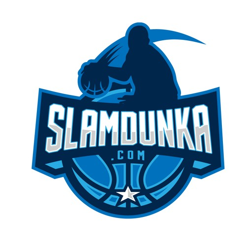 Sports design with the title 'Basketball website logo'