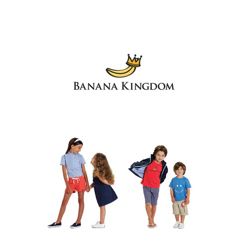 Kingdom logo with the title 'Logo for girls/boys casual clothing'