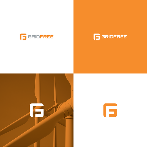 Green energy design with the title 'GridFree Logo Design'
