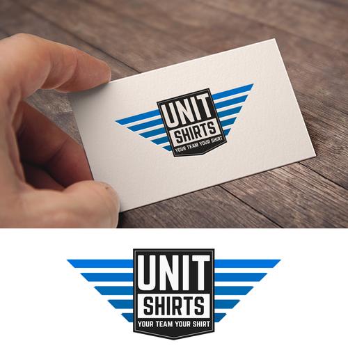 Basic logo with the title 'Unit Shirts'
