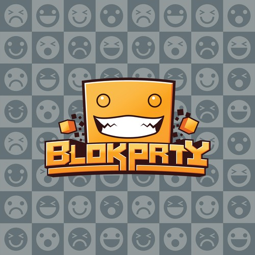 Block logo with the title 'BlokPrty - Competitive and Fun Video Game Company'