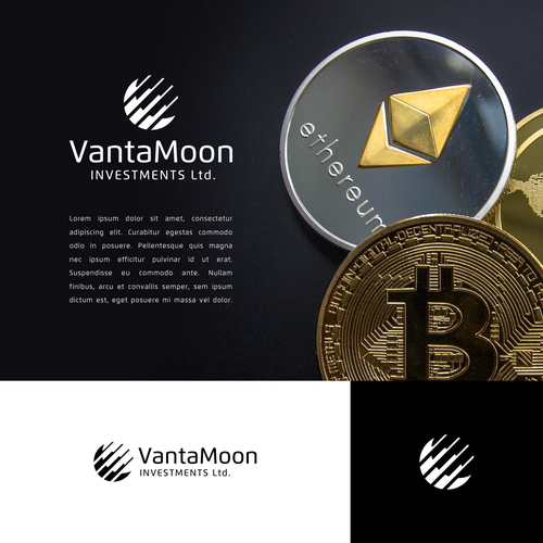 Cryptocurrency logo with the title 'Geometric Logo for Crypto Investment Company'