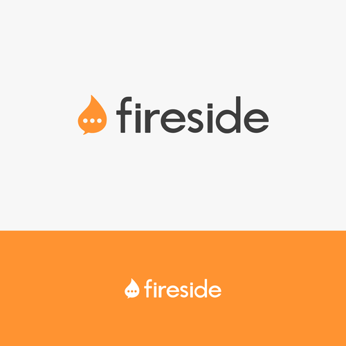 Messaging logo with the title 'Fireside.'