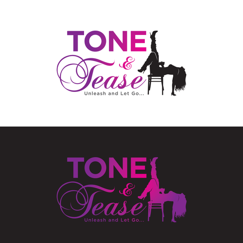 Dance school logo with the title 'Unique - Sexy/Fun Logo for Tone and Tease'