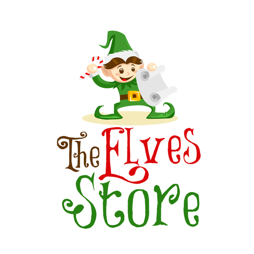 Toy logo with the title 'The Elves Store'