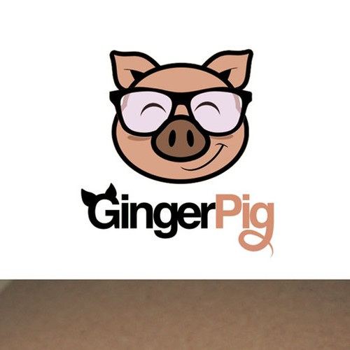 Cub logo with the title 'Cute Pig Logo'