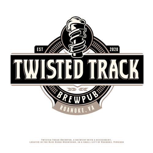 Pub logo with the title 'Logo concept for brewpub'