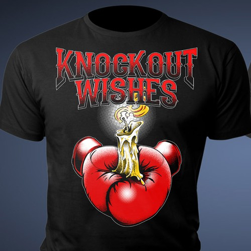 Fighting t-shirt with the title 'Knockout Wishes'