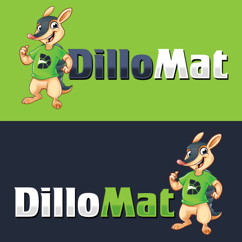 Mattress logo with the title 'Create awesome Armadillo character for my Dillomat business because you rock!'
