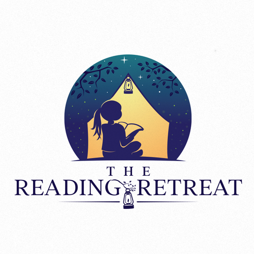 Road trip logo with the title 'The Reading Retreat'