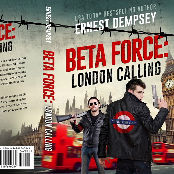 Funny book cover with the title 'Beta Force: London Calling'